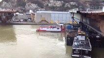 Déplacement travée du Pont Mathilde à Rouen le 20 février