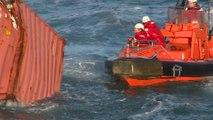 Remorquage conteneur du Maersk Svendborg vers Cherbourg - Abeille Liberté / Base navale Cherbourg - 21-22 février