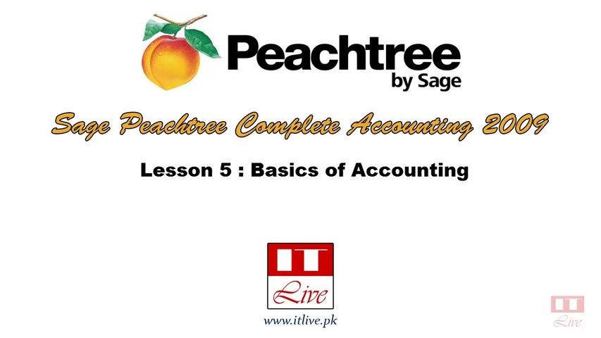 5 - Accounting Basics for Peachtree Accounting 2009  (Urdu / Hindi)