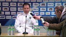 Conférence de presse AJ Auxerre - Angers SCO (1-2) : Bernard  CASONI (AJA) - Stéphane MOULIN (SCO) - 2013/2014