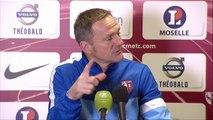 Conférence de presse FC Metz - Clermont Foot (1-0) : Albert CARTIER (FCM) - Régis BROUARD (CF63) - 2013/2014