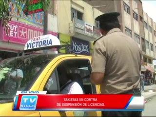 Chiclayo: Taxistas en contra de suspensión de licencias 21 02 14