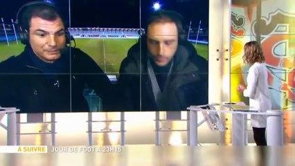 Quand Marc Lievremont boit une bière à l'antenne de Canal+