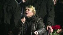 """Ukraine: à Maïdan, Timochenko rend hommage aux """"héros"""""""