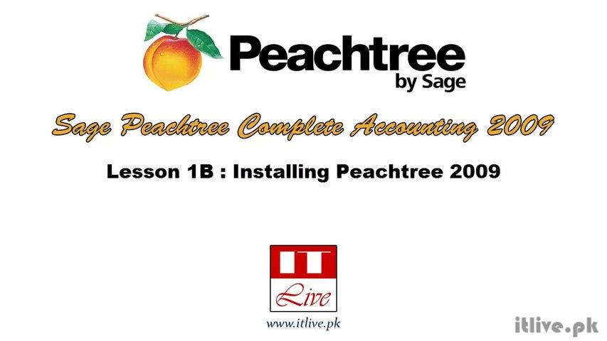 1B - Installing Sage Peachtree Accounting 2009 (Urdu / Hindi)B