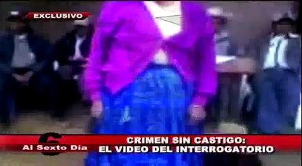 Crimen sin castigo: el video del interrogatorio a Elestina Zárate