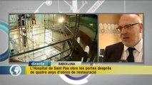 TV3 - Els Matins - L'Hospital de Sant Pau obre les portes després de quatre anys d'obres de restau