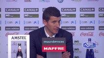 Javi Gracia, contento con la goleada al Atlético de Madrid