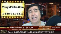 TCU Horned Frogs vs. Oklahoma St Cowboys Pick Prediction NCAA College Basketball Odds Preview 2-24-2014