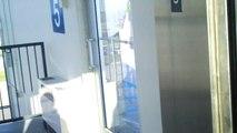 Kone Ecodisc Glass Traction Elevator #3 at Monk Dr. Garage, University of Missouri - Columbia