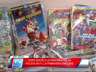 Chiclayo: Policia dio golpe a la pirateria 24 02 14