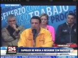Crisis en Venezuela: Capriles niega reunirse con Maduro pese a protestas (1/2)
