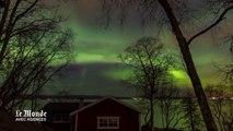Une aurore boréale danse dans le ciel norvégien