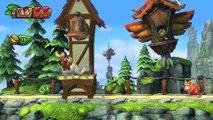 Donkey Kong Country: TF. Paseo precipitado  2-2 - Gameplay - 100% puzzles y letras