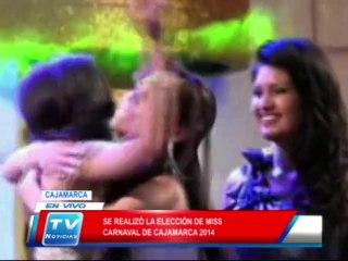 Cajamarca: Se realizó elección de Miss Carnaval 24 02 14