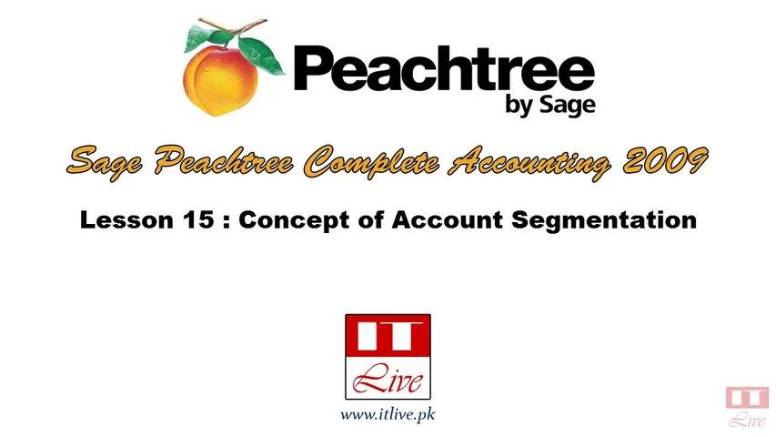 15 - Account Segmentation Concept in Peachtree 2009 (Urdu / Hindi)