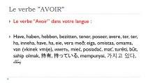 Learn French # Verbe AVOIR = Futur proche