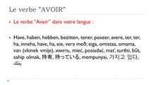 Learn French # Verbe AVOIR = Indicatif = Plus-que-parfait