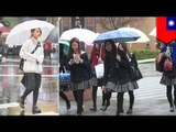 Taiwanese schools make girls wear knee-high skirts in cold weather