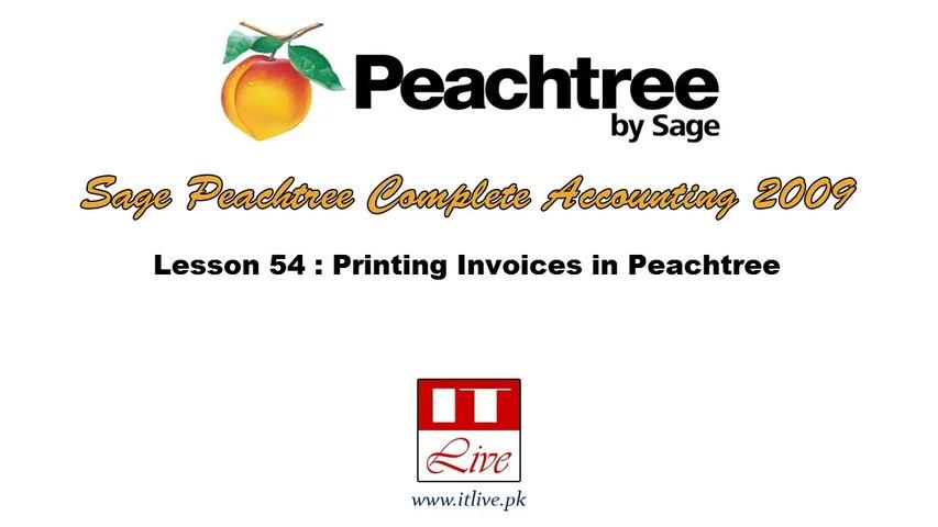 54 - Printing Invoices in Peachtree 2009 (Urdu / Hindi)