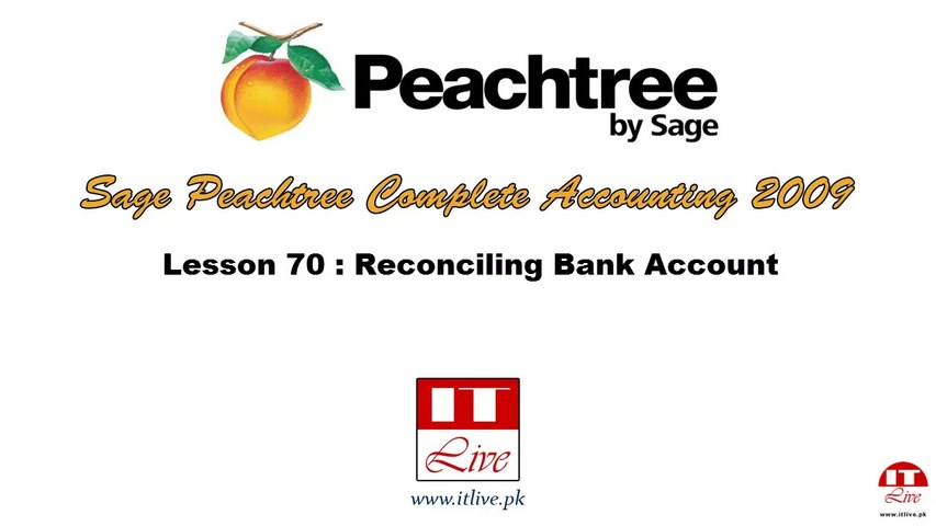 70 - Reconciling Bank Account in Peachtree 2009 (Urdu / Hindi)