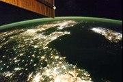 Corée du Nord de nuit vue depuis l'Espace