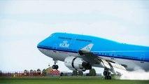 FSX KLM Boeing 747 Landing Amsterdam Schiphol ( Spotting ) ( HD )