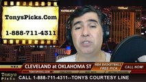 Oklahoma City Thunder vs. Cleveland Cavaliers Pick Prediction NBA Pro Basketball Odds Preview 2-26-2014
