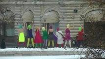 Punk Rockers Riot на Красной площади Путин зассал