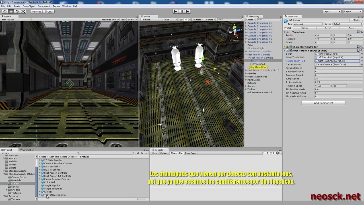 Tutorial Unity 3D - First Person Controller [Mobile assets]