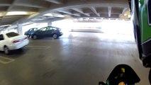 Quickie Clip #7: ZX6R 636 Parking Garage Revs (Enhanced HD Sound)