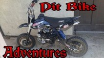 Pit Bike Adventures - EP. 8 - Drag Racing Another Pit Bike, Wheelies, And City Street Fun