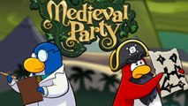 Club Penguin- Rockhopper and Gary at the Medieval Party