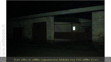 BARI, SANNICANDRO DI BARI  IN AFFITTO  CAPANNONE  ABITATA MQ 100 AFFITTO EURO 350