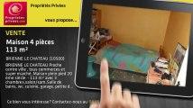 A vendre - maison - BRIENNE LE CHATEAU (10500) - 4 pièces - 113m²