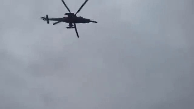 Russia Helicopters Entering Ukraine - 28 February 2014