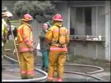 FIRE DEPARTMENT SET HOUSE ON FIRE ON LOUGHEED HWY FIRE DEPARTMENTS FROM CANADA AND USA 2