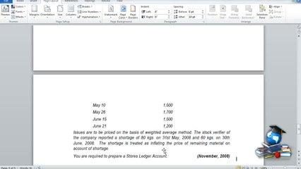 Q8 - Material Costing_LIFO & WA