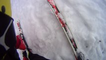 Eliot descente de la Face a Frere Jo Ventron le 23 fev 2014  chute a 1min30