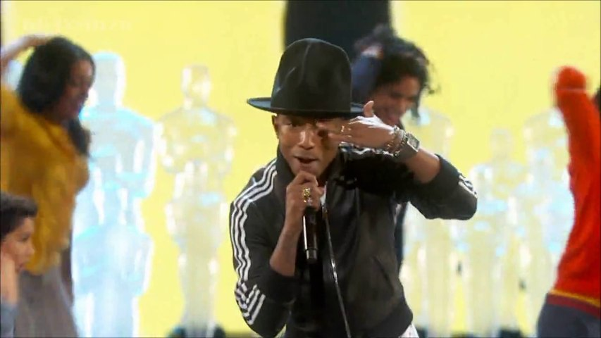 [HD] Pharrell Williams - Happy - Oscars 2014
