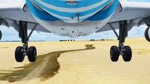 FSX EgyptAir Airbus A320 Landing @ Sharm El Sheikh ( Gear ) ( HD )