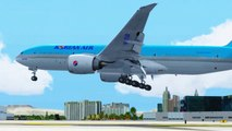FSX Korean Boeing 777 Landing @ Las Vegas ( Outside ) ( HD )