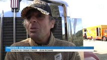 Cirque Pinder : Des dizaines de camions et d'animaux investissent le Domaine de Grammont