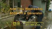 HO Services Generat Generator Electrical Plumbing* Heating Cooling