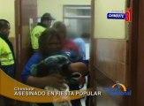 Willian Chávez Quipusco de 28 años asistió a una fiesta popular en Chimbote y fue asesinado de cinco balazos.