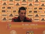 """RC Lens - Tours FC : 2-2 """"On a fait les choses à moitié"""" (Y. Touzghar) :"""