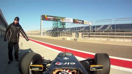 Formula Renault 3.5 onboard lap at Motorland Aragon test drive