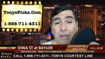 Baylor Bears vs. Iowa St Cyclones Pick Prediction NCAA College Basketball Odds Preview 3-4-2014