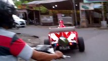 Formula 1 Modified Car Turns Heads on Streets of Indonesia