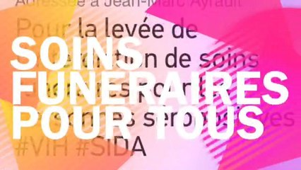 Soins Funéraires pour tous avec Stone, Brigitte Lahaie, Pierre Bergé et Jean-Luc Romero